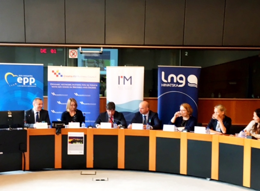 Croatia's LNG terminal panel discussion in the European Parliament